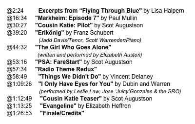"@2:24         Excerpts from ""Flying Through Blue"" by Lisa Halpern