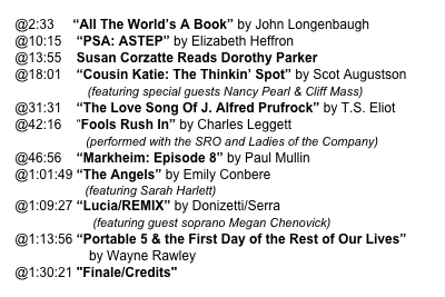 "@2:33     ""All The World's A Book"" by John Longenbaugh