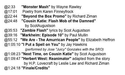 "@2:33      ""Monster Mash"" by Wayne Rawley