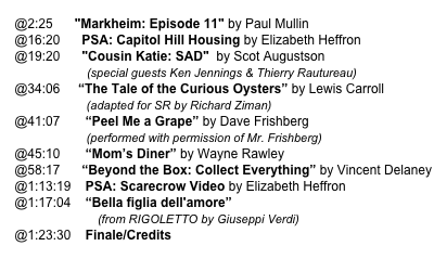 "@2:25      ""Markheim: Episode 11"" by Paul Mullin